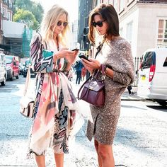Printed dress + scarf // Round sunglasses + sweater dress