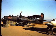 USMC Korean War 35mm Slide Kodachrome Grumman F7F-3N Tigercat Night Fighter 0014