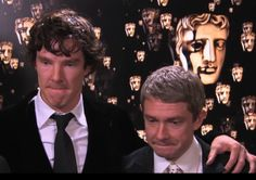 their BAFTA listening faces. This is so adorable: how they are exactly the same.