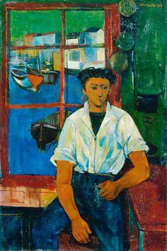 John Minton 1948 Cornish boy at a window John Minton, English Artists, British Artists, Royal College Of Art, Your Paintings, Portrait Paintings, Art Uk, Art Store, Painting & Drawing