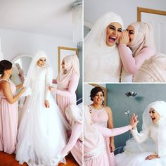 @rewwaaa and her bridesmaids getting excited about the wedding day! Laughs all around Photography @lahzaphotography  Hijab styling @the_haya_atelier  Mua @freshtasahak  Dress @uniquelyhandmade #lahzawedding #lahza #lahzaphotography #wedding #lebanese #lebanesewedding #luxor #melbournewedding #melbourneweddingphotography #muslimbride #modestbride #modestbridesmaids #bridesmaids #pretty #weddinginspo #weddinginspiration #weddedwonderland #pink #ribbon  #muslimwedding #rewaandabdul16 by…