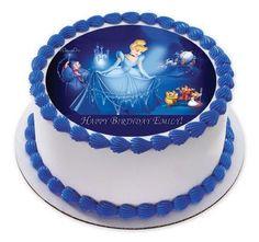 Cinderella 3 Edible Birthday Cake OR Cupcake Topper Prints On EPoC