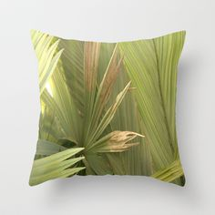 Palm Series I Throw Pillow by Rosie Brown - $20.00