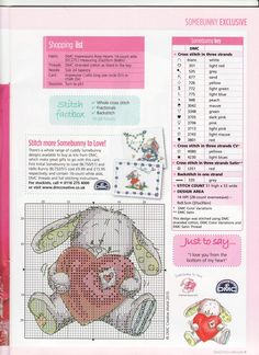The pattern chart for the sweet little valentine bunny :)
