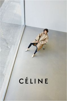 Celine. Bold composition of photograph, leaving room for the brand logo. The edges of the room create nice shapes.