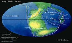 Pangaea was a supercontinent formed by a series of continental collisions that began in the Late Paleozoic and continued into the early part of the Mesozoic.  The northern part of Pangaea, called Laurasia, includes most of present day North America, Greenland, Europe, and Asia.  Gondwana is the southern part of Pangaea. It includes most of present day South America, Africa, India, Australia, and Antarctica.
