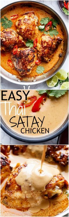 Thai Satay Chicken In A Creamy Peanut Sauce with a special ingredient ...