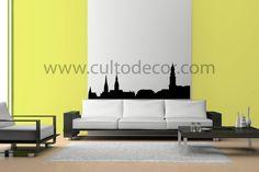 Hamburgo - Skylines em vinil de corte com 18 cores diferentes e 2 acabamentos (brilhante/mate). Saiba tudo em http://www.cultodecor.com