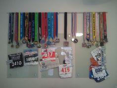 Medal - Race Number display idea for marathoners.