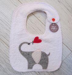 Bib elephant - handmade