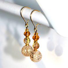 Ananda - earrings / korvakorut Bead Jewelry, Glass Beads, Drop Earrings, How To Make, Design, Beaded Jewelry, Pearl Jewelry, Drop Earring