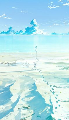 On the beach illustration Fantasy Landscape, Landscape Art, Fantasy Art, Anime Kunst, Anime Art, Anime Scenery Wallpaper, Hd Wallpaper, Environment Concept Art, Aesthetic Art