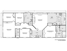 Eagle Trace II – Destiny Homes of Florida One Level House Plans, Barn House Plans, House Floor Plans, Fleetwood Homes, Large Floor Plans, Mobile Home Floor Plans, Modular Home Floor Plans, Mobile Homes For Sale, 1 Gif