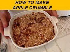 how to make  APPLE CRUMBLE, dessert, vegan