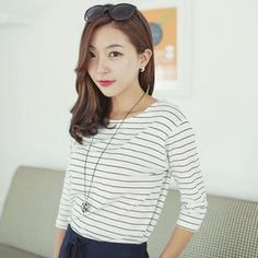 Buy 'Soneed – 3/4-Sleeve Striped T-Shirt ' with Free International Shipping at YesStyle.com. Browse and shop for thousands of Asian fashion items from South Korea and more!