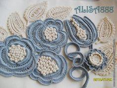 Flowers ...irish crochet motifs