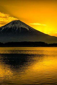 Golden Mount Fuji, Japan