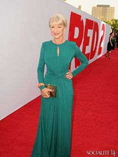 """LOS ANGELES, CA - JULY 11: Actress Helen Mirren attends the premiere of Summit Entertainment's """"RED 2"""" at Westwood Village on July 11, 2013 in Los Angeles, California."""