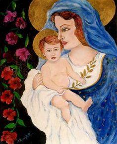 Madonna della pace - olio su tela (40x50 cm)