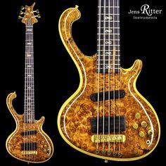 Roya 5-string #bass with beautiful master-grade Camphor Burl Top and Infinity Inlays.