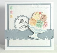 Kathy's Waffle for Spellbinders 'Chill' Die D-Lites Etched Dies  Classic Spellbinders Special Birthday Sentiments Stamps  Nestabilities Lacey Circles Etched Dies