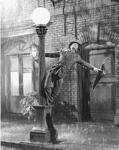 Just Singin' in the Rain...  here's a did you know... Gene Kelly actually did this entire scene with a horrible cold and was terrified of developing pneumonia from being in cold water for such long periods.