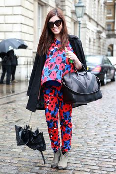DKNY floral outfit