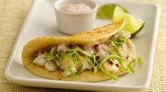 Zesty Lime Fish Tacos made with Gands Biscuits...sounds strange, but OMG the shell is awesome!  This is a go-to meal in our house!