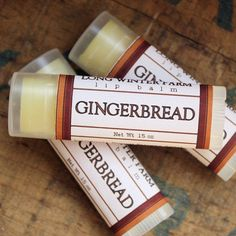 Gingerbread Lip Balm - Long Winter Soap Co.
