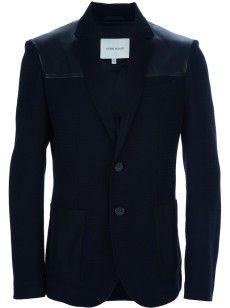 Pierre Balmain Leather Shoulder Jacket | UpscaleHype