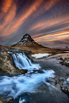 Kirkjufell morning on 500px by Snorri Gunnarsson, Hafnarfjörður, Iceland ☀ Canon EOS 5D Mark II-f/18-1/2s-16mm-iso100, 683✱1024px-rating:99.6 ◉ Photo location: Google Maps