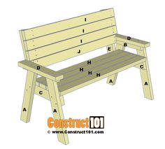 2x4 bench plans, step 7.