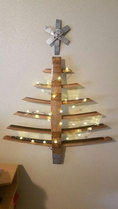 Wine barrel stave Christmas tree