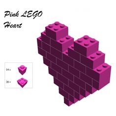 How to Build a Lego heart (change color, of course, and take pic to use on card?)