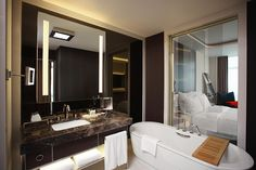 Le Méridien Istanbul Etiler—Deluxe Room Bathroom by LeMeridien Hotels and Resorts, via Flickr