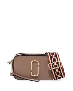 The Marc Jacobs Snapshot Colorblock Camera Bag Marc Jacobs Snapshot Bag, Leather Camera Bag, Cute Bags, Birkin, My Style, Boho Style, Neiman Marcus, Color Blocking, Shoulder Strap