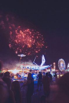Festivals, fireworks, being outside at night with good  friends and losing track of time