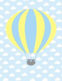 balão, arte balão, arte infantil, balão para menino, balão, quarto azul, quarto balão, decoração balão, decoração para meninos, quadro balão, poster balão, arte decorativa, interiores, design, desenho infantil, kids, bebê, arte para bebês, recém nascido, crianças, meninos - BALÃO AZUL C AMARELO Air Balloon, Balloons, Coco Baby, Kids Background, Baby Posters, Project Life Cards, Flower Phone Wallpaper, Baby Album, Baby Quotes