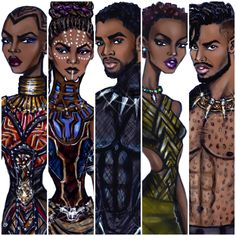 Hayden Williams Fashion Illustrations | Black Panther collection by Hayden Williams ...