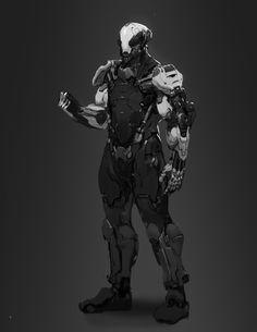 power soldier, Johnathan Reyes on ArtStation at https://www.artstation.com/artwork/xBLJX