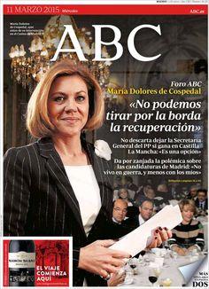 Diario ABC de 11 Marzo 2015 y Recordar que pueden visualizar en vídeos las noticias cada día en http://www.youtube.com/vendopor