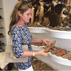 First stop Canfora, the original Capri shoe store.