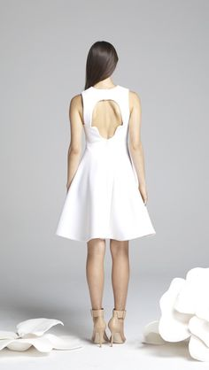 Backless space dress