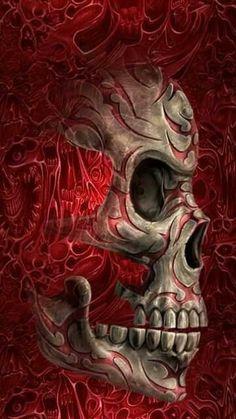 Red Roses #art #skull