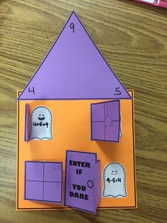 Fact Family Haunted House!  Your students will have a blast with this math craftivity!  This craft is very easy to assemble.