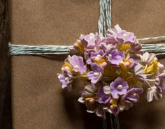 lavender purple paper millinery flowers