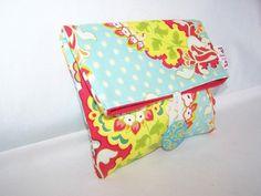 Folded Clutch Bag   Heather Bailey's Pop Garden by thejoyschoppe, $14.00