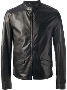 Black Leather Bomber Jacket by Dolce & Gabbana. Buy for $1,187 from farfetch.com