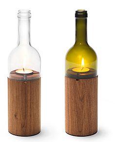 wine bottle votive holders