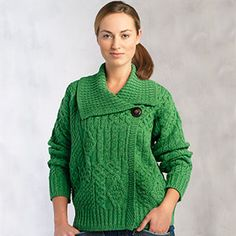 60f3ab0a1b7 Donegal Wool Sweater for Women - Buttoned - Imported from Ireland